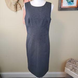 Ann Taylor Sz 8 Charcoal Mid Length Sheath Dress